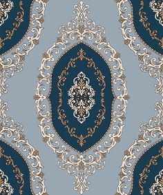 Indian ornaments and design elements vector Islamic Art Pattern, Arabic Pattern, Textile Prints, Textile Patterns, Print Patterns, Wallpapers Texture, Pattern Drawing, Pattern Art, Tropical Art