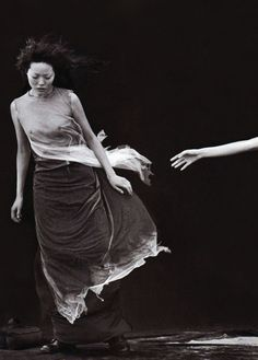 "jinxproof:  Kae Iwakawa   | ""A Windy Summer Day""   Vogue Italia (May 1999)  ph. Peter Lindbergh"