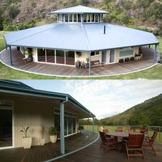 octagonal homes images - Google Search Modern House Plans, House Floor Plans, Beautiful Architecture, Architecture Design, Yurt Home, Yurts, Round House, Cabin Ideas, Ideal Home
