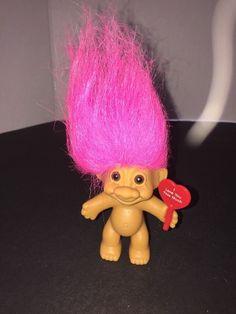 russ vtg treasure troll doll roman toga shoes fuchsia hair hp5