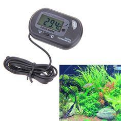 LCD Digital Aquarium Sensor Thermometer Wired Aquarium Fish Tank x cm Quality LED Digital Sensor Aquarium Thermometer Tanked Aquariums, Temperature Measurement, Online Pet Supplies, Digital Thermometer, Aquarium Fish Tank, Led, Accessories, Products