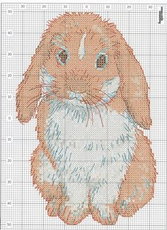 cute bunny!cross stitch