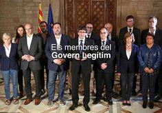 El Govern destituido borra a Santi Vila en su nueva web Han utilizado una fotografía del 1 de octubre en la que estaba el exconseller pero al quitarlo han dejado sus piernas