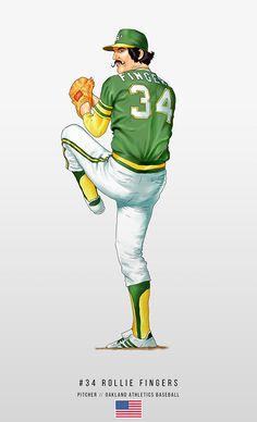 Baseball Art, Oakland Athletics, Mlb, Athlete, Sports, Fictional Characters, Artwork, Legends, Hs Sports