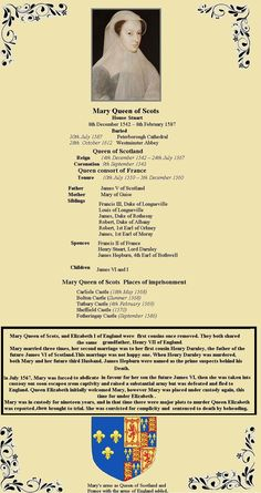 Mary, the only surviving legitimate child of King James V, was six days old when her father died and she acceded to the throne Tudor History, European History, British History, Ancient History, Ancient Aliens, American History, House Of Stuart, Royal Family Trees, Family Information