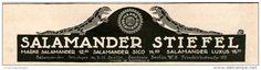Original-Werbung/Inserat/ Anzeige 1913 - SALAMANDER STIEFEL - ca. 180 X 50 mm