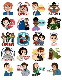 has Stranger Things stickers now! Netflix Stranger Things, Stranger Things Characters, Stranger Things Quote, Stranger Things Aesthetic, Stranger Things Season 3, Eleven Stranger Things, Stranger Danger, Tumblr Stickers, Aesthetic Stickers