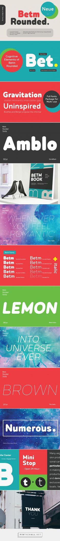 Betm Rounded - Desktop Font & WebFont - YouWorkForThem #font #typoraphy