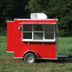 Red Concession Trailer   Advanced concession trailer