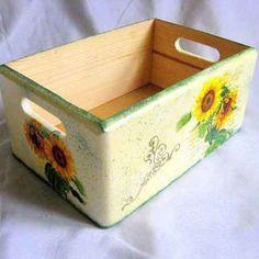 Ladita lemn cu florea soarelui, ladita transport