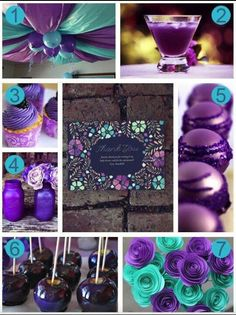 Purple and teal LOVE THESE COLORS FOR THE BABY SHOWER!