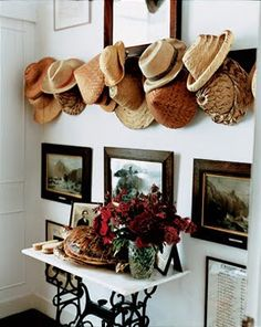 When a storage option turns into something beautiful--love this entrance area.