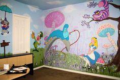 Alice in Wonderland Mural