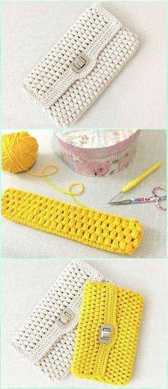 Crochet Puff Clutch Free Diagram - Crochet Clutch Bag & Purse Free Patterns