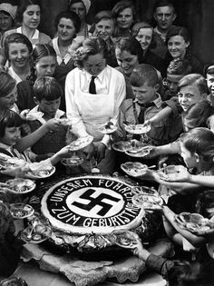 Germany. The poor children of Berlin share in Hitler's Birthday party, April 20, 1934.