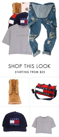"""""""You used to be the one to talk to on the side..."""" by shilohluvsu ❤ liked on Polyvore featuring Timberland and Hilfiger"""
