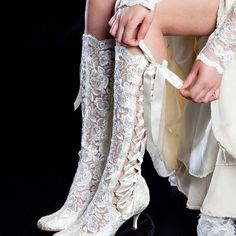 white wedding pirate boots  Wish I had found these years ago…...