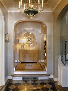 kulta glam entryway heijastava viimeistely