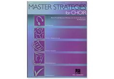 MASTER STRATEGIES FOR CHOIR Paperback - Michael Jothen gives us over 70 ready-to-use reproducible activities for the choral rehearsal, grades 6-12, that feature not only question and answer but experiment and demonstration, research and expressive development. It is organized into three areas:  1) choir as a sound laboratory covering choral techniques 2) choir as a rehearsal-classroom addressing history, style and theory 3) choir as a concert venue addressing concert etiquette and…
