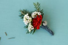 DIY: Holiday Inspired Boutonnières (wrapped with washi tape)    @Ingrid Pugh-Goodwin - I can make something similar to these, but summery and wheat-y for your wedding!