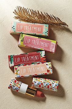 Tinted Lip Treatment from Anthropologie // cute packaging!