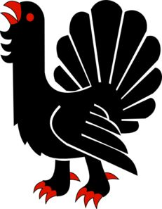 Capercaillie Passant Clip Art Png Photo, Free Vector Graphics, Rooster, Clip Art, Birds, Graphic Design, Red, Grouse, Animals