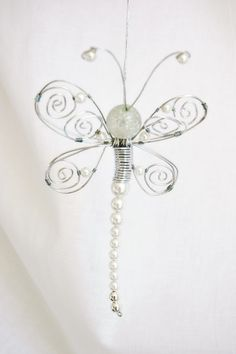 paperwhitestudio: Second Beading Attempt - Dragonfly Ornaments