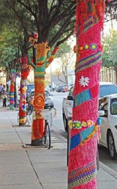 City of Livermore, CA seeks knitters and crocheters for yarn bombing project that will be up in the city of this fall.