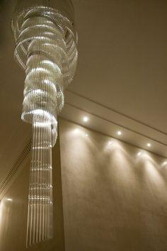Cascade Eva Menz Design art deco classic and contemporary glass tubes alluring Murano