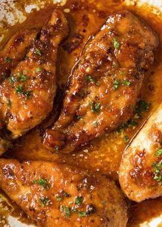 Chicken Parmesan Recipes, Healthy Chicken Recipes, Cooking Recipes, Recipe Chicken, Chicken Salad, Chicken Meals, Baked Chicken Breastrecipes, Honey Glazed Chicken, Vegetarian Recipes