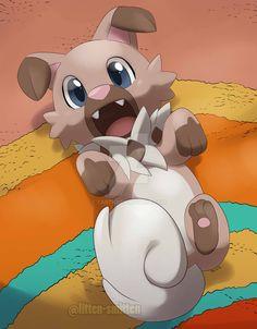 Iwanko <<< it's cute Rockruff Pokemon, Pokemon Eeveelutions, Pokemon Memes, Cool Pokemon, Pokemon Stuff, Cute Pokemon Pictures, Funny Pictures, Pokemon Photo, Wolf Spirit Animal