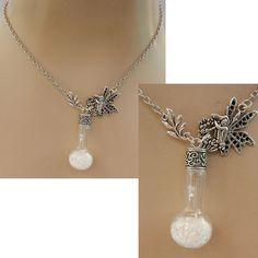 Fairy Glass Vial Pendant Necklace Jewelry Handmade NEW Fashion Chain Silver #Handmade #Pendant