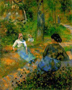 Camille Pissarro, Peasants Resting, 1881  (1023×1280)