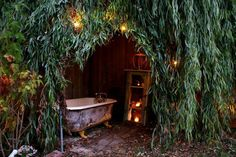 Find 28 outdoor bathtub ideas to inspire the outdoor space around your home. The editors at domino share outdoor bathtub ideas to inspire you. Outdoor Bathtub, Outdoor Bathrooms, Outdoor Rooms, Outdoor Gardens, Outdoor Living, Outdoor Showers, White Bathrooms, Luxury Bathrooms, Master Bathrooms