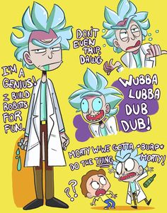 Rick and Morty (Mostly Rick tho) by ecokitty on DeviantArt