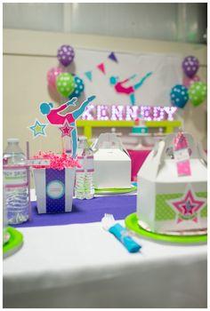 Gymnastics Birthday Party Printables