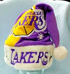 38acffabd6 Los Angeles Lakers Team Beans Santa Hat Christmas Cap
