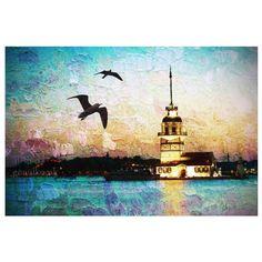 Landscape Photograph night photography istanbul by gonulk on Etsy, $30.00