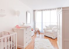 If you decorate a baby's or kid's room entirely in white, you are just asking for trouble. Lots of filthy, discolored, puke-and-poop covered trouble.