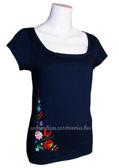 T-shirt hungarian folk (Kalocsa) hand embroidered http://himzesmania.hu