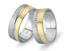 1 Paar Trauringe / Eheringe / Verlobungsringe in 585 Gelbgold + Gravur & Etui
