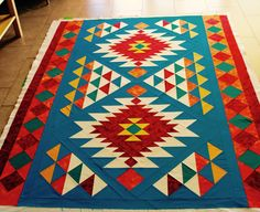 Name: 'Quilting : Southwest Style Throw - Southwestern Quilts, Southwest Style, Quilting Projects, Quilting Designs, Estilo Navajo, Indian Quilt, Panel Quilts, Quilt Stitching, Star Quilts