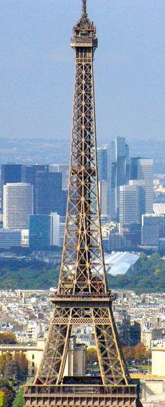 The Eiffel Tower seen from Tour Montparnasse. #TourMontparnasse #EiffelTower #TourEiffel #Paris