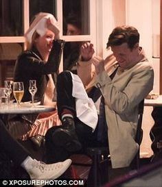 Claire Foy and Matt Smith fool around at playful dinner in London The Crown 2016, The Crown Series, Crown Netflix, Fooling Around, Kate Mckinnon, 11th Doctor, Prince Phillip, British Men, Matt Smith