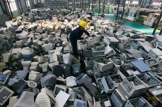 Discarded computers in Hubei Province.