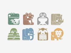 Animal pictograms by Victory Fetisova, via Behance