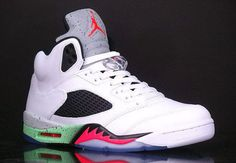 Check out Another Look at the Air Jordan 5 Infrared/Poison Green