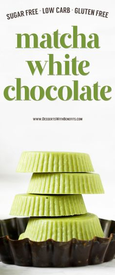 If you like matcha green tea and if you like white chocolate, combine the two and make this Matcha Green Tea White Chocolate! It's earthy from the matcha, yet sweet and delicious from the white chocolate. This Homemade Matcha White Chocolate is the ultimate treat -- and it's secretly sugar free, low carb, and gluten free too!