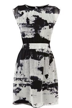 textured landscape dress