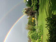 Double Rainbow shot  6/29/13 Near Chicago